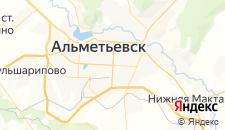 Гостиницы города Альметьевск на карте