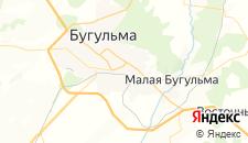 Гостиницы города Бугульма на карте