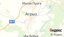 Гостиницы города Агрыз на карте