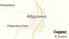 Гостиницы города Абдулино на карте