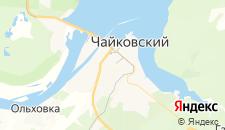 Гостиницы города Чайковский на карте