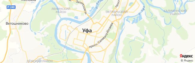 Уфа на карте