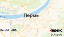 Гостиницы города Пермь на карте