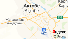 Гостиницы города Актобе на карте