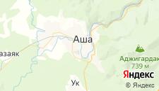 Гостиницы города Аша на карте