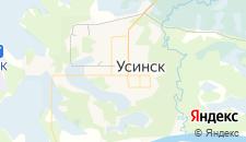Гостиницы города Усинск на карте