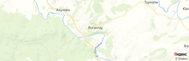 Янган-Тау на карте