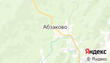 Гостиницы города Абзаково на карте