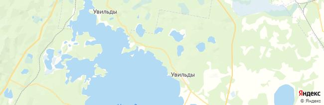Увильды на карте