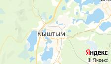 Гостиницы города Кыштым на карте