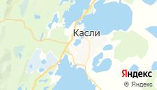 Гостиницы города Касли на карте