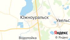 Гостиницы города Южноуральск на карте