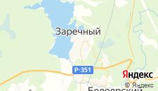 Гостиницы города Заречный на карте