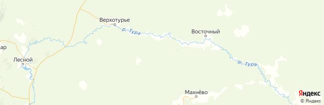 Свердловская область на карте