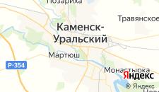 Гостиницы города Каменск-Уральский на карте