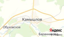 Гостиницы города Камышлов на карте