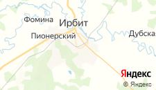 Гостиницы города Ирбит на карте