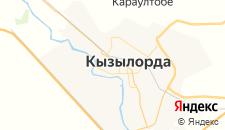 Гостиницы города Кызылорда на карте