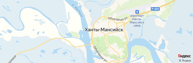 Ханты-Мансийск на карте