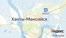 Гостиницы города Ханты-Мансийск на карте