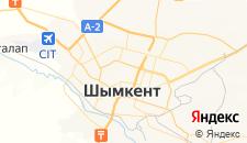 Гостиницы города Шымкент на карте