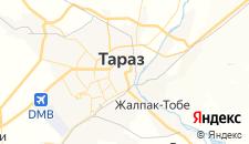 Гостиницы города Тараз на карте