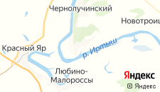 Гостиницы города Чернолучье на карте