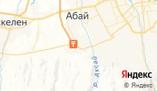 Гостиницы города Кыргауылды на карте