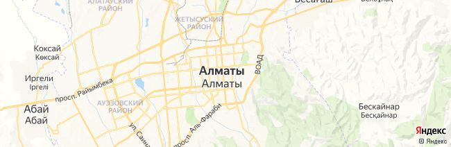 Алма-Ата на карте