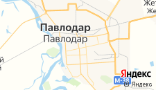 Гостиницы города Павлодар на карте