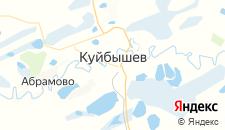 Гостиницы города Куйбышев на карте