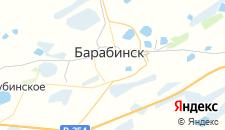 Гостиницы города Барабинск на карте
