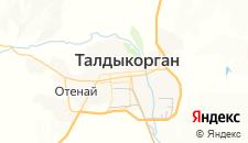 Гостиницы города Талдыкорган на карте