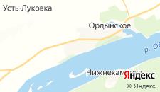 Гостиницы города Ордынское на карте