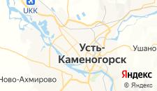 Гостиницы города Усть-Каменогорск на карте
