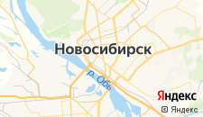 Гостиницы города Новосибирск на карте