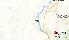 Гостиницы города Ая на карте