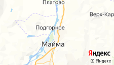 Гостиницы города Майма на карте