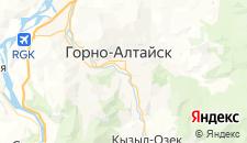 Гостиницы города Горно-Алтайск на карте