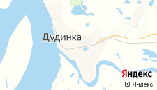 Гостиницы города Дудинка на карте
