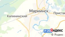 Гостиницы города Мариинск на карте