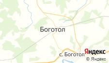 Гостиницы города Боготол на карте