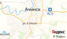 Гостиницы города Ачинск на карте