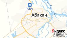 Гостиницы города Абакан на карте
