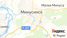 Гостиницы города Минусинск на карте