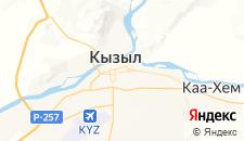 Гостиницы города Кызыл на карте