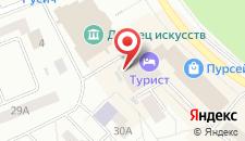 Гостиничный комплекс Турист на карте