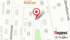 Гостиница Лесная на карте