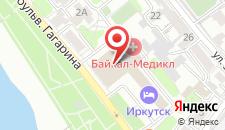 Гостиница Иркутск на карте