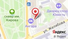 Гостиница Ангара на карте